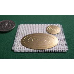 Oval place mat on cream setting