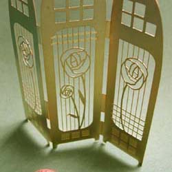 Mackintosh style screen   Brass