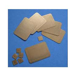 6 Brass Oblong Place Mats and Coasters