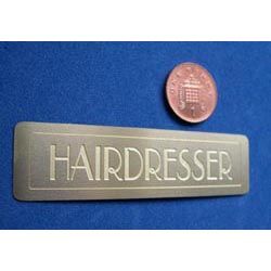Brass Hairdresser Sign