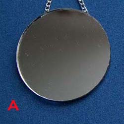 Round Mirror with Chain....Plain