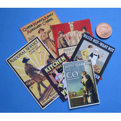 WW1 .... Womans Posters x6