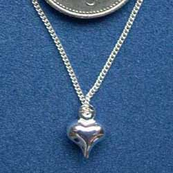 Silver Heart on a fine Silver Chain