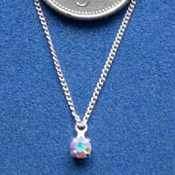 Swarovski Crystal on a Fine Silver Chain