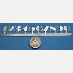Set of Stainless Steel  Art Deco Numbers
