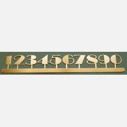 Art Deco Numbers set in Brass