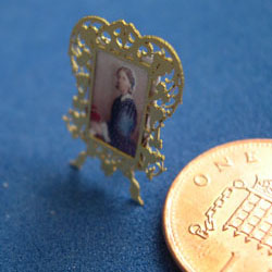 Tiny Picture of Florence Nightingale in a Victorian Frame
