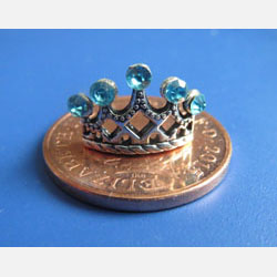 Tiara with Aqua Crystals