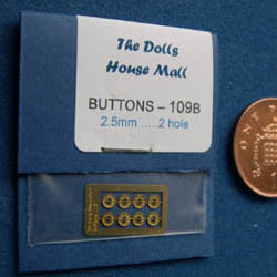 ''B'' Button Set ....2.5mm....2 Holes