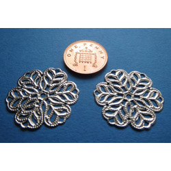 Fancy Metal Doilies x 2