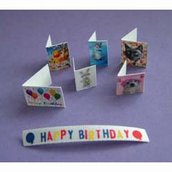 6 Greeting Cards Plus Ribbon Banner