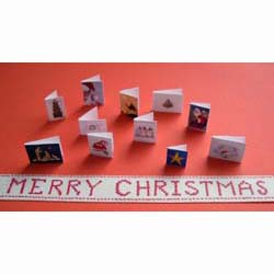5 Assorted Christmas Cards + Merry Christmas Banner