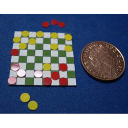 Checkers Board with Loose Counters