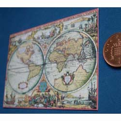 Victorian World Map The Dolls House Mall - Victorian world map