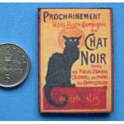 Chat Noir....mounted on card