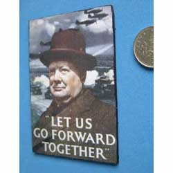 WW2 ....Churchill Poster....mounted on black card