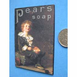 Pears Soap Poster....mounted on card