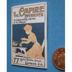 Empire Typewriter Poster....mounted on card