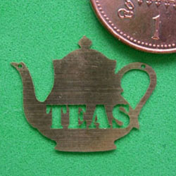 1/24th Scale Teas Sign (Teapot shaped)