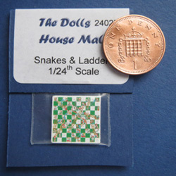 1/24th Scale Snakes & Ladders Board