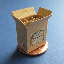 1/24th Scale Empty Wine Box