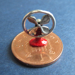 1/24th Scale Desk Fan - Red