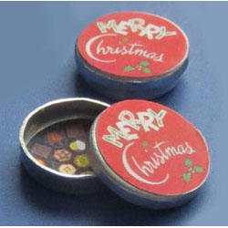 1/24th Scale Merry Christmas Biscuit Tin