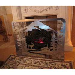 "Stainless Steel ""Mountain"" Fire Guard with Mesh"