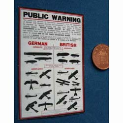 WW1 ....Public Warning