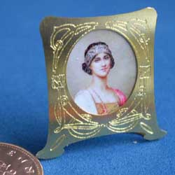Flapper in a Brass Art Deco Frame
