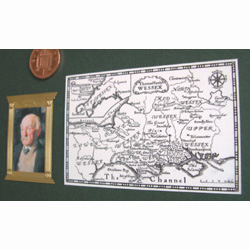 Thomas Hardy and a Wessex map