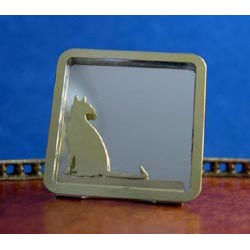 Cat Mirror....Brass