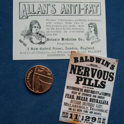 Allan's Anti-Fat  and Baldwin's Nervous Pills Posters