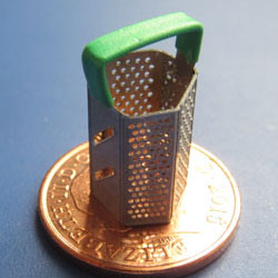Hexagonal Cheese Grater....Green Handle