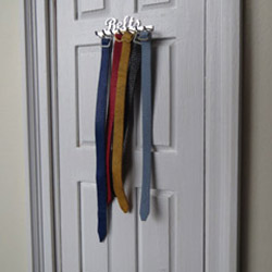 Belt Rack with 5 Assorted Belts