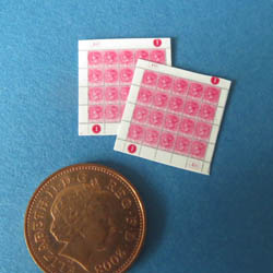 Victorian Stamps - Pink