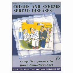 WW2 ....Coughs and Sneezes Poster