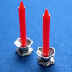 Red Candles in Holders