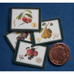 Place Mats with Fruit x 4
