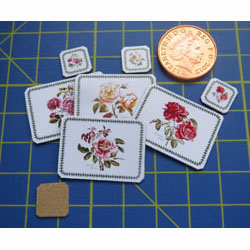 4 Place Mats and Coasters.....ROSES