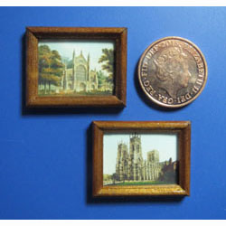 York and Winchester Cathedrals in Wooden Frames