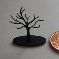 Black Jewellery Tree with Oval Base