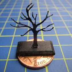Black Jewellery Tree with Rectangular Base