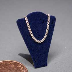 Necklace Display Stand - Navy Blue