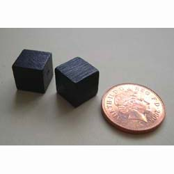 2 Black Display Cubes