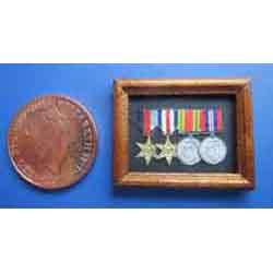 WW11 Medals in a Wooden Frame