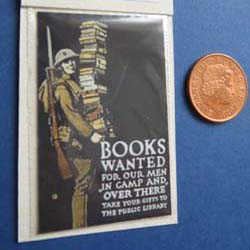 WW1.....Books Wanted for Soldiers Poster