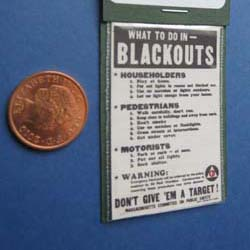WW2.....What to Do in Blackouts Poster