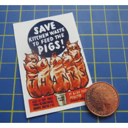 WW2....Save Kitchen Waste Poster