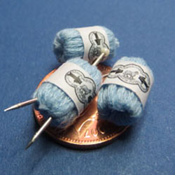 3 Balls of Pale Blue Knitting Yarn